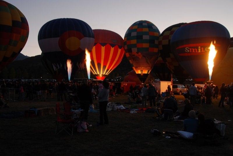 Snowmass (Hot Air) Balloon Festival At night