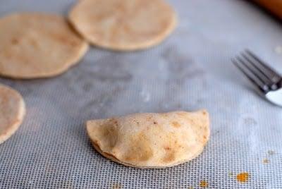 folded filled empanada