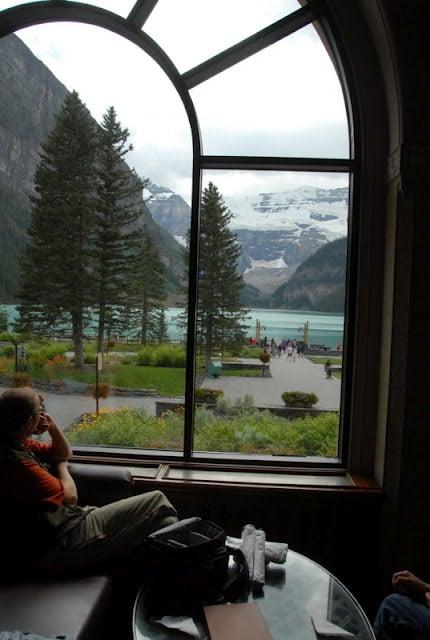 Lakeside Lounge at Fairmont Lake Louise