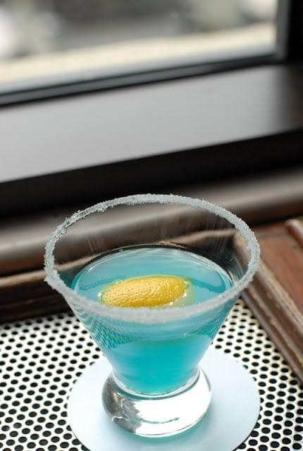 blue Lake Louise Glacier Drop cocktail