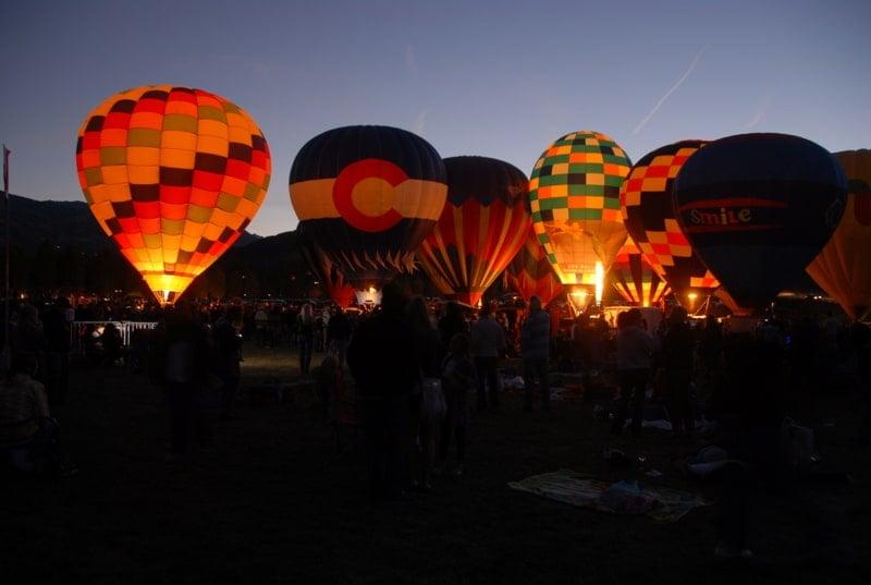 Snowmass (Hot Air) Balloon Festival Night glow