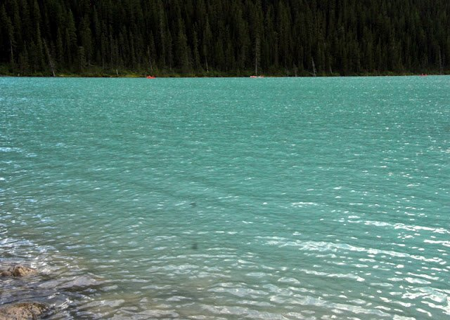 blue water of Lake Louise