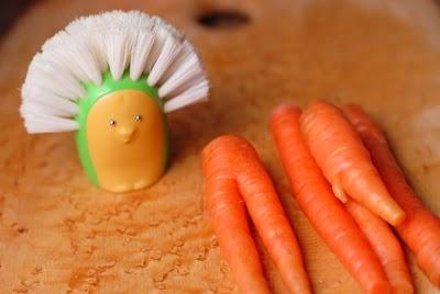 scrubbing carrots