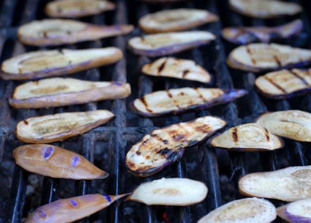 fairytale eggplant on grill