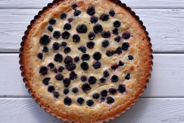 cooked blackberry tart