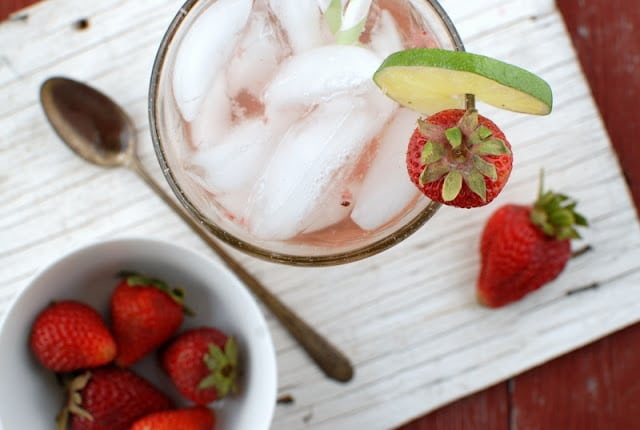 strawberry spritzer from above