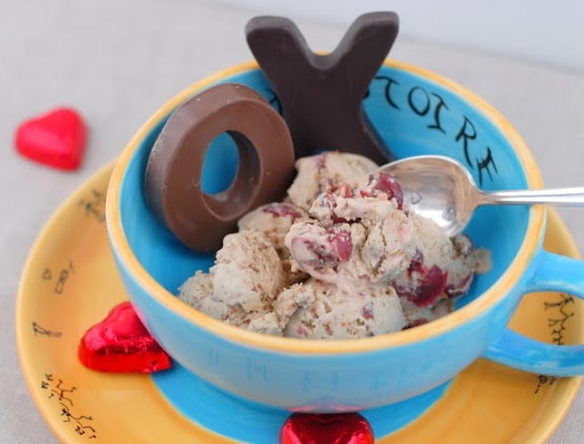 The Perils of Valentine's Day and Toasted Almond and Tart Cherry Ice Cream