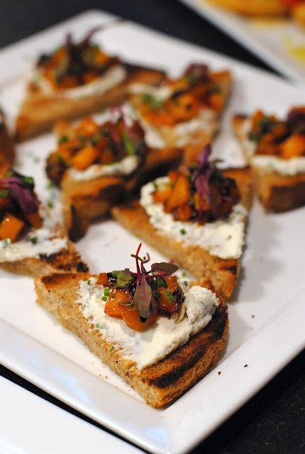 appetizers on toast