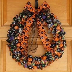 The Best Halloween Wreath with Tootsie Pops | BoulderLocavore.com