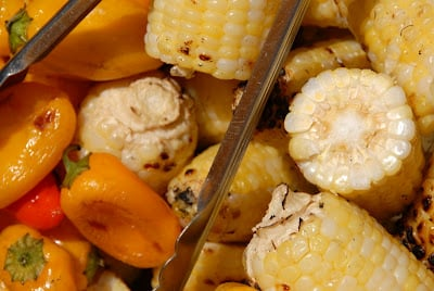 corn cobs and peppers