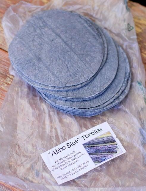 blue tortillas