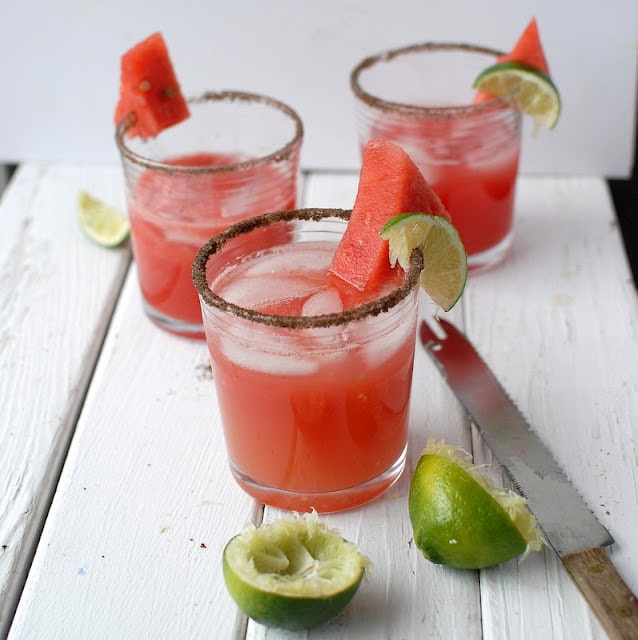 Smoky Watermelon Jalapeno Margaritas | BoulderLocavore.com