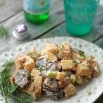 Tri Color Chipotle Bacon Potato Salad