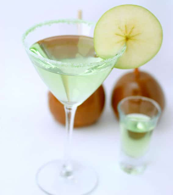 caramel apple martini and shot