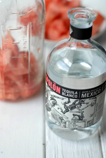 Watermelon-Infused Tequila and Margarita