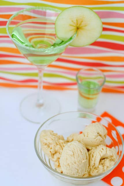 caramel apple ice cream and cocktails