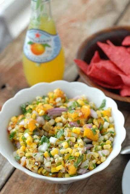 Grilled Peach and Corn Salsa