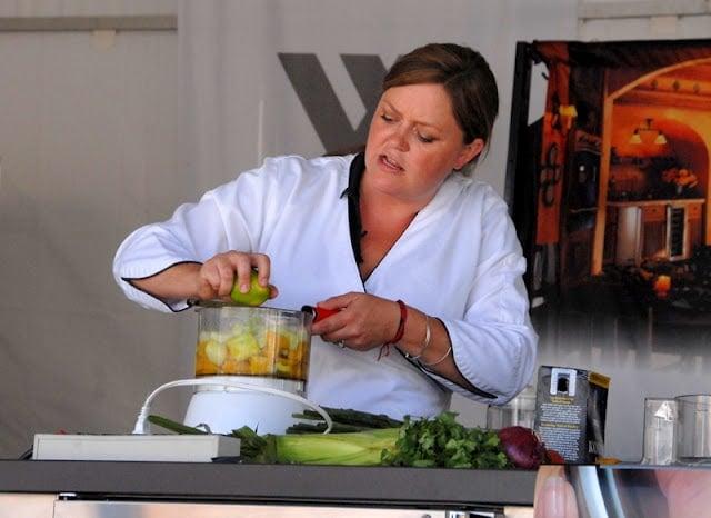 chef demonstration making gazpacho
