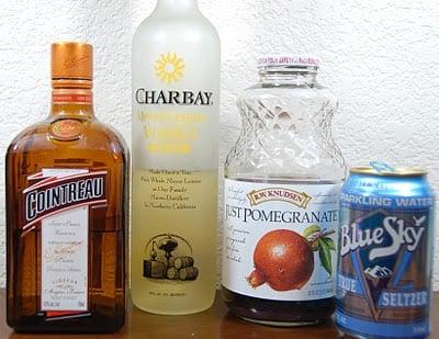 A close up of a bottles