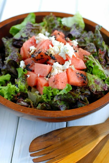 Watermelon Goat Cheese Summer Salad | BoulderLocavore.com