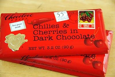 cherries and chocolate bar