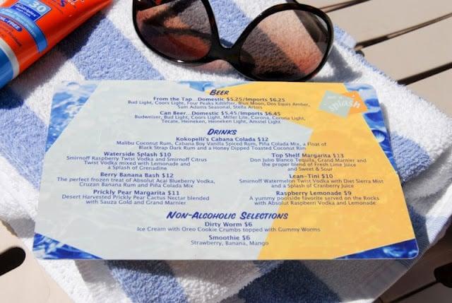 Pool Side Cocktail menu | BoulderLocavore.com