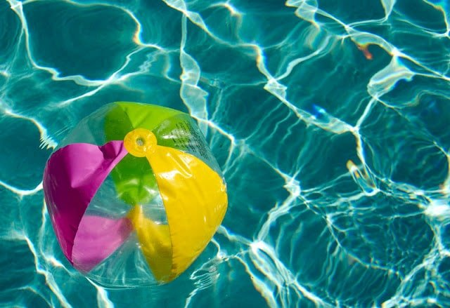 Beach Ball in Swimming Pool | Boulderlocavore.com