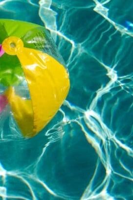 pool and beach ball