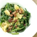Warm Dandelion and Bacon Salad