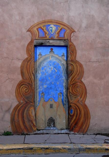 colorful door in Santa Fe NM