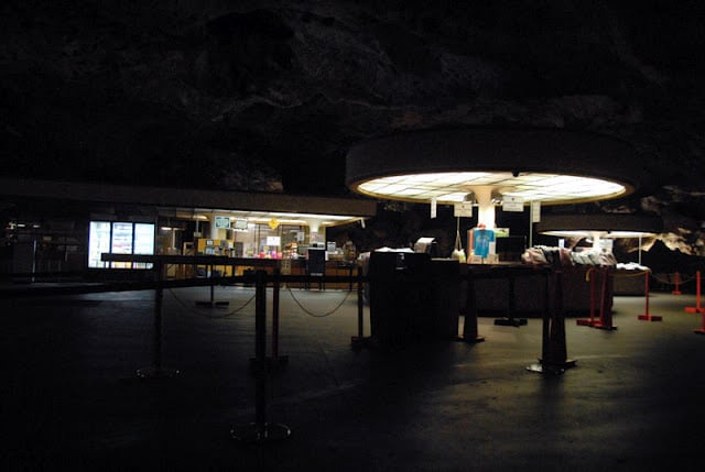 Underground dining at Carlsbad Caverns