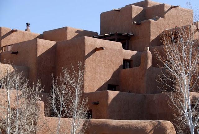 A close up of a adobe building