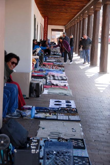 Native American sellers at the Plaza in Santa Fe