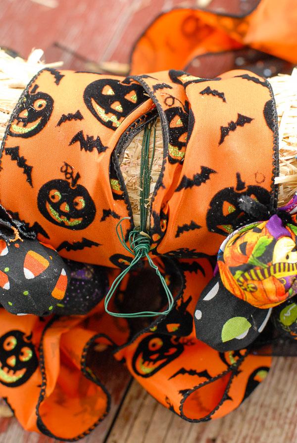 Halloween Trick or Treat wreath hanger