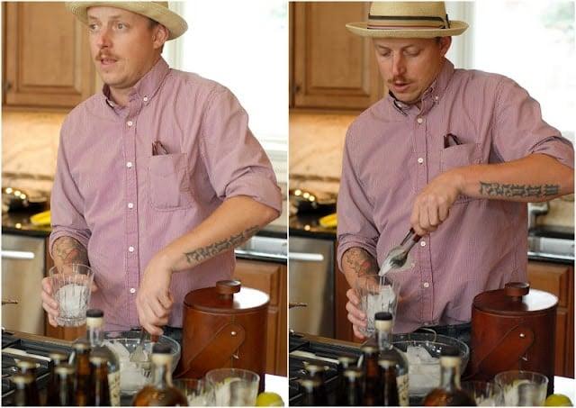 Man preparing cocktail