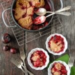 Plum Slump recipe. Sweet fresh plums simmered with a dumpling topping. An Americana dessert that's relaxed and delicious! - BoulderLocavore.com