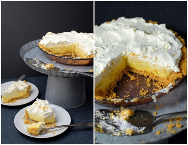 Lemon Chiffon Pie with Cornflake Crust