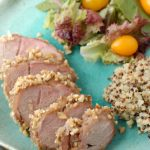 Peanut-Encrusted Asian Pork Tenderloin