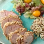 Peanut-Encrusted Asian Pork Tenderloin