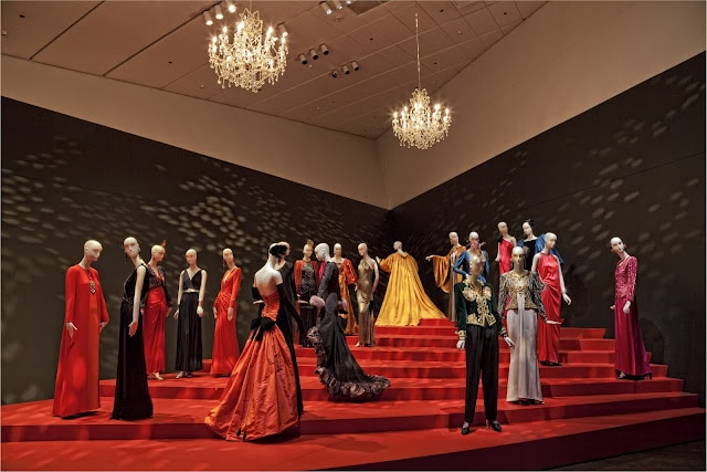 Yves Saint Laurent costume exhibit