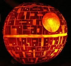 carved pumpkin like space ship