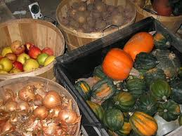 A variety of fresh fruit and vegetables