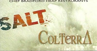 A close up of a restaurant sign