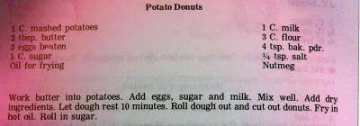 potato donuts recipe