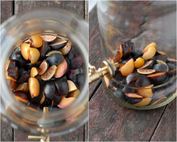 Making sangria - plies in jar
