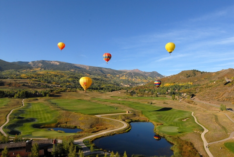A large balloons in the sky