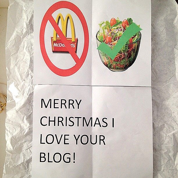 merry christmas note