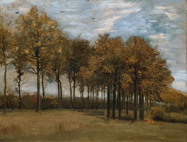 Autumn landscape by van gogg