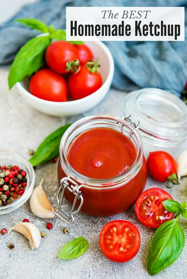 Best Homemade Ketchup in glass jar