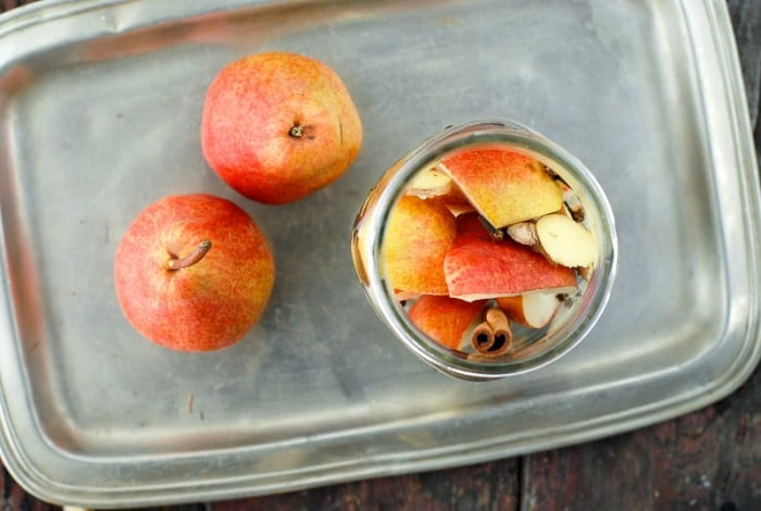 DIY Homemade Spiced Pear Vodka Infusion in jar